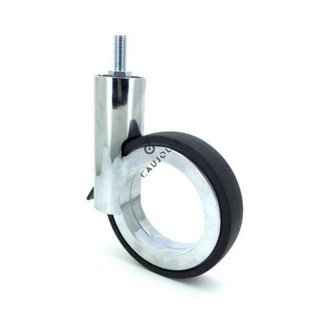 Castor wheel for modern furniture Ø 110mm Gravity Series 110P Chrome-plated with threaded stem