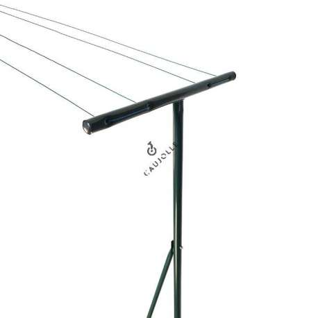 Outdoor clothes line in grey lacquered steel 20 m of washing line 1