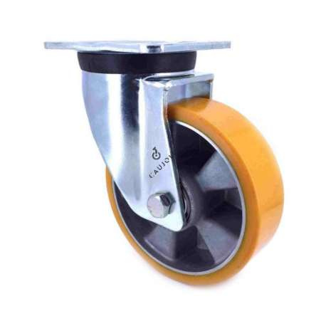 Swivel castor wheel polyurethane aluminium rim 160 mm diameter load 600KG - S78AR 160