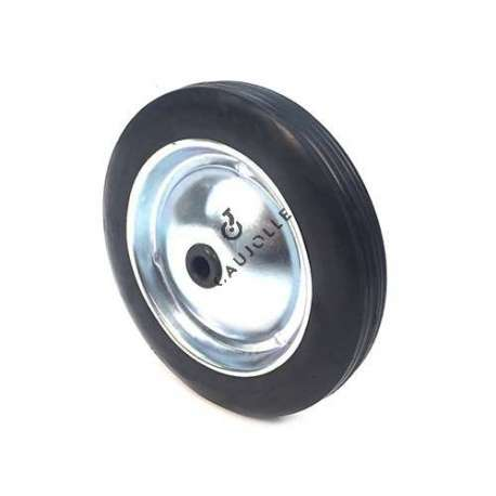 PLATE METAL AND RUBBER WHEEL 182 MM DIAMETER 12 MM BORE S7200