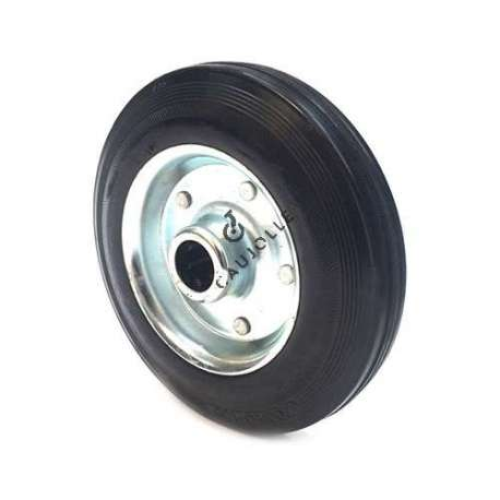 INDUSTRIAL USAGE RUBBER WHEEL 250 MM DIAMETER BORE 25 MM S2000TS