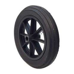 PUNCTURE-PROOF HARD RUBBER WHEELBARROW WHEEL 400 MM DIAMETER 25 MM BORE 100 MM LARGE R25-100