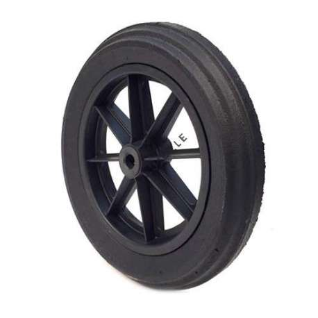 PUNCTURE-PROOF HARD RUBBER WHEELBARROW WHEEL 400 MM DIAMETER 20 MM BORE 74 MM LARGE R20-74