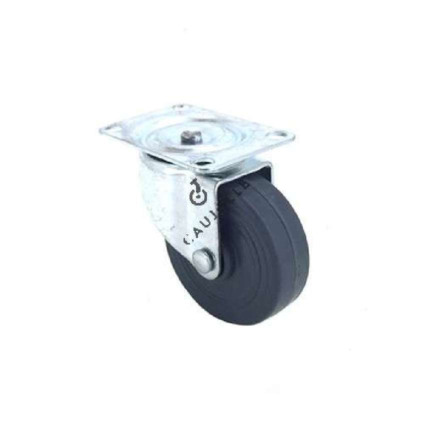 Furniture castor wheel with swivel plate 50 mm diameter 1