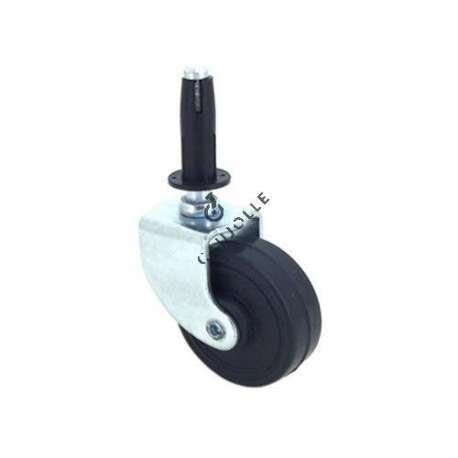 Furniture swivel castor wheel with smooth spindle 50 mm diameter 1