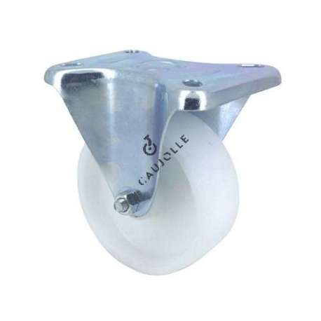 Industrial fixed-position castor wheel in polypropylene 100 mm diameter 1