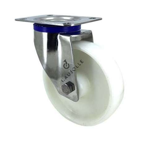 STAINLESS STEEL swivel castor wheel 150 mm diameter nylon 1