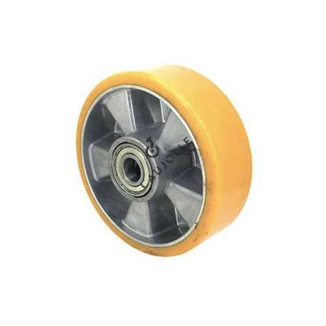 POLYURETHANE WHEEL ALUMINIUM BODY 160 MM DIAMETER 20 MM BORE S2013
