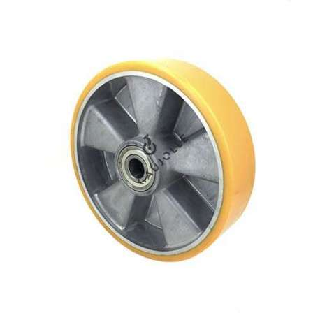 POLYURETHANE WHEEL ALUMINIUM BODY 200 MM DIAMETER 20 MM BORE S2013