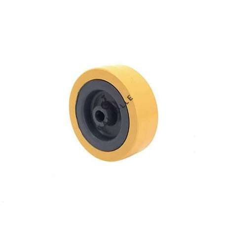 ORANGE PVC WHEEL 65 MM DIAMETER 8 MM BORE S2300E