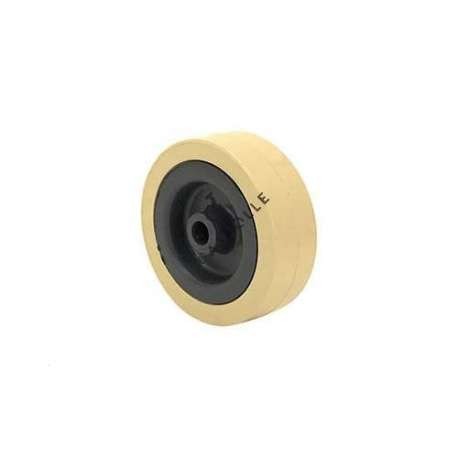 IVORY PVC WHEEL 65 MM DIAMETER 8 MM BORE S2300E