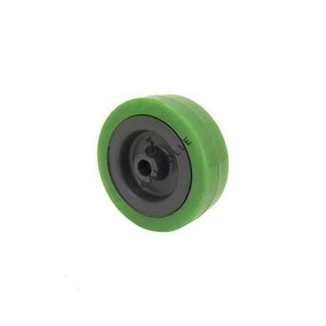 GALET DE MANUTENTION PVC VERT DIAMÈTRE 65MM AXE 8 MM S2300E