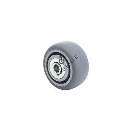 SUPPLE RUBBER WHEEL WITH BALL BEARINGS 50 MM DIAMETER 8 MM AXLE S15/50RB