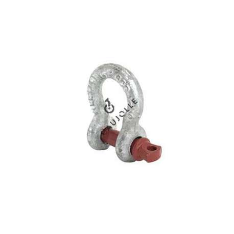 HIGH RESISTANCE BOW SHACKLE WITH 10 MM THREADED PIN 750 KG LOAD