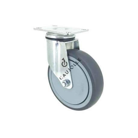 INDUSTRIAL CASTOR WHEEL SWIVEL PLATE S15 125MM DIAMETER