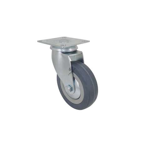 Community castor wheel in rubber with plate 100 mm diameter S14