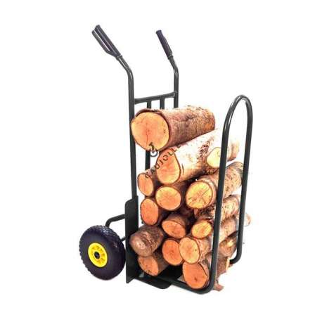 SACK TRUCK FOR LOGS WITH 2 PUNCTURE-PROOF WHEELS